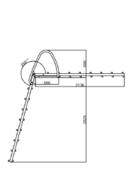 Badstege rostfri Svall ritning