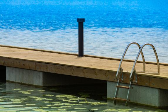 Trä- betongponton