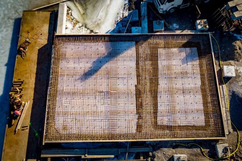 Gjutning av betongkaj
