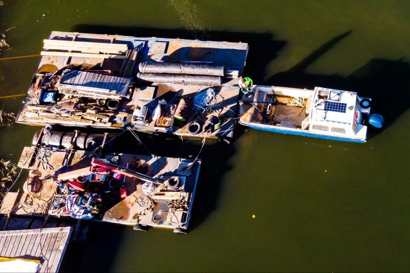 Bryggbåt plattform